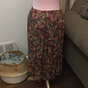 Alfred Dunner Floral Pleated Skirt